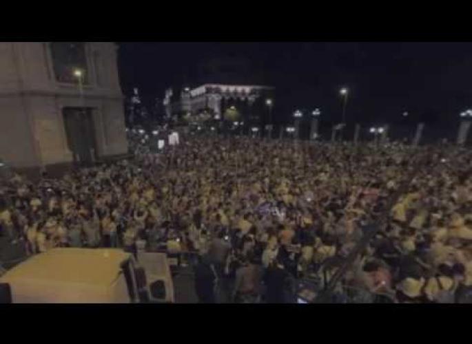 Embedded thumbnail for A szurkolók ünneplése a Cibeles téren